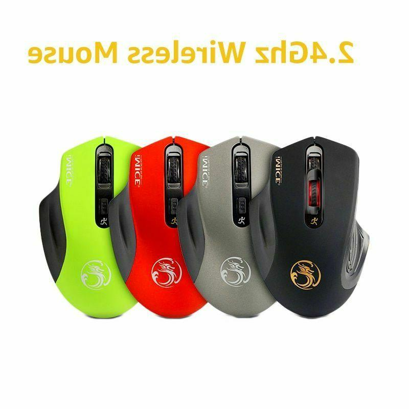 Wireless Mouse Adjustable 3.0 Receiver 2.4GHz Ergonomic Mice