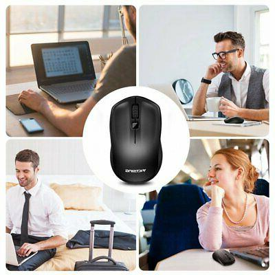 Wireless Mouse Adjustable DPI Cordless Receiver for Laptop hot