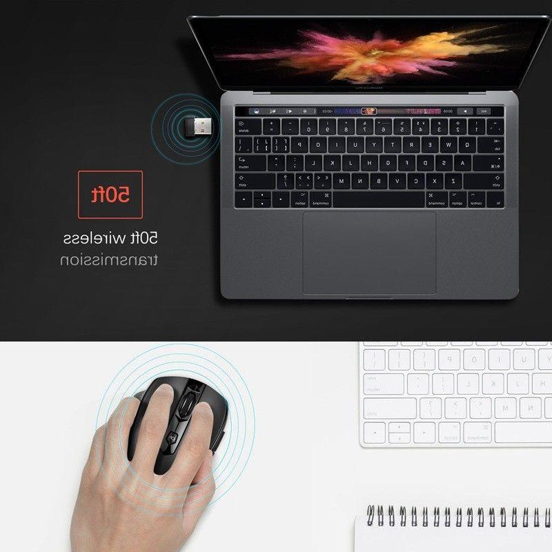 2.4GHz 2400 DPI Wireless Optical Mouse USB Laptop