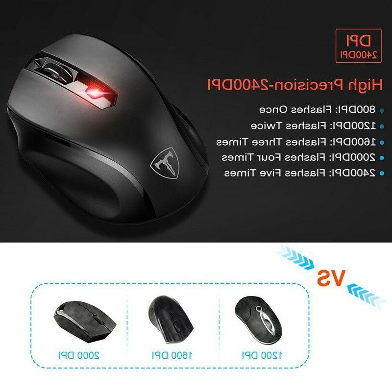 2.4GHz 2400 Optical Mouse Mice USB Receiver PC Laptop