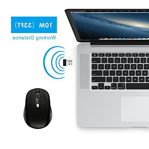 JETech Mobile Optical Mouse CPI Levels Wireless