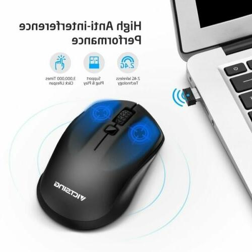 2.4GHz Optical Mouse Mice For PC Mac