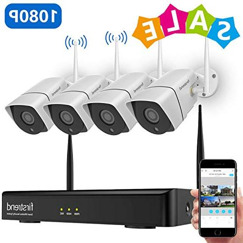 1080P Wireless Security Camera System, Firstrend 8CH Wireless