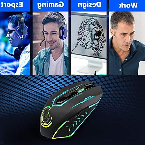 fc2477950f9 Wireless Gaming Mouse to 7200 6 Buttons 7 LED Ergonomic Computer Players