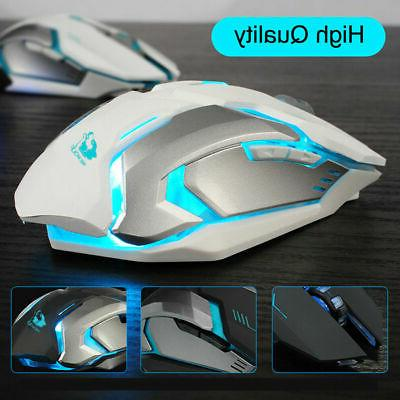 Wireless USB Optical Mouse Laptop Mice White