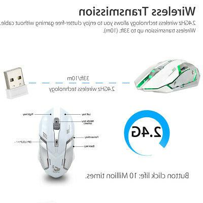 Wireless Mouse Rechargeable X7 Laptop White