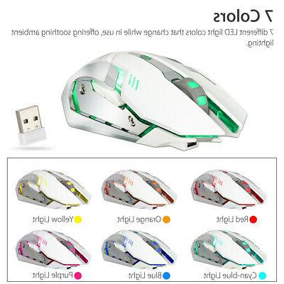 Wireless Optical Mouse Rechargeable Laptop Mice