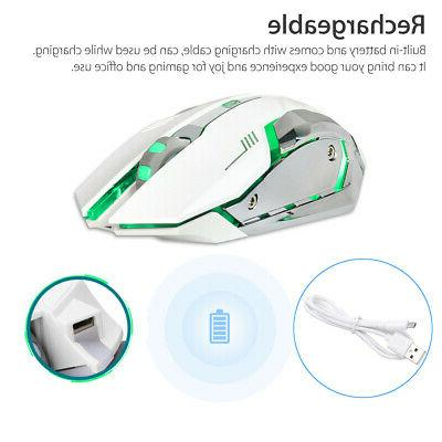 wireless usb optical gaming mouse rechargeable x7