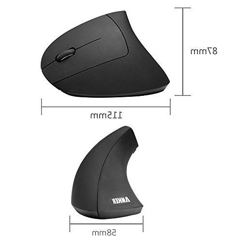 Anker Ergonomic Optical Mouse, 800 / 1200 /1600DPI, Buttons -