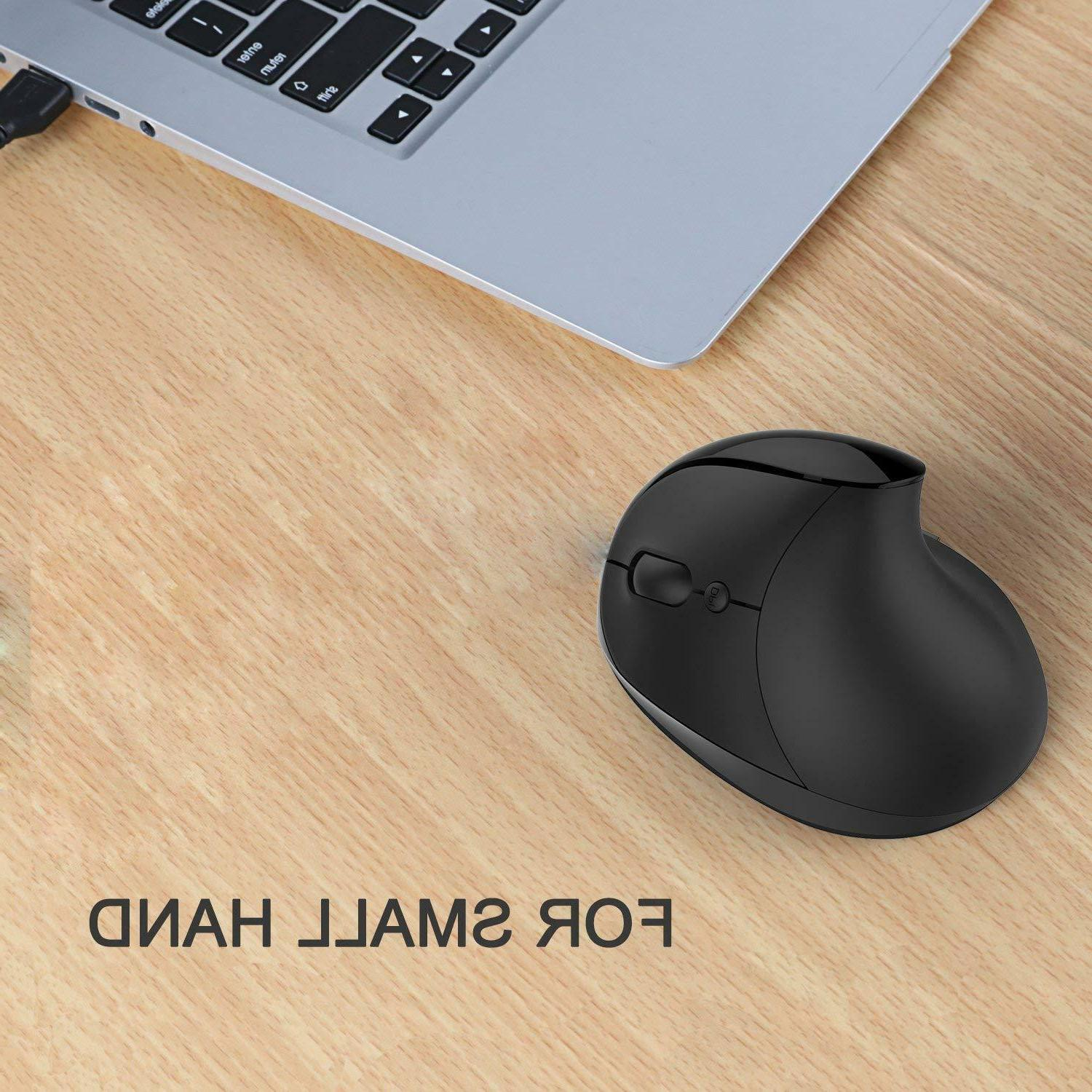 Wireless Vertical Mouse, Comb 2.4G High Precision
