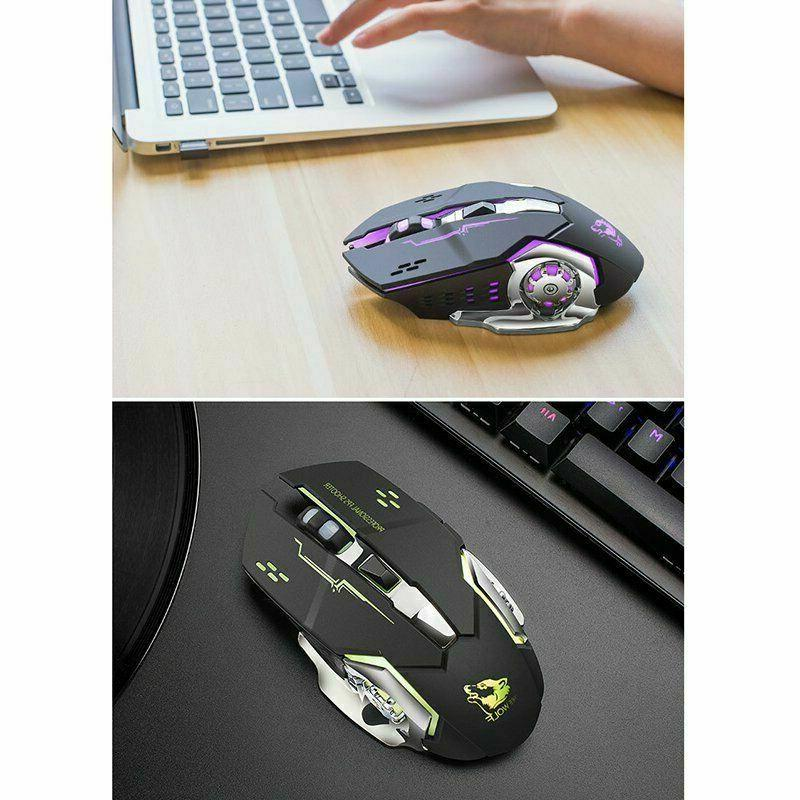 Wireless mouse quiet and comfortable rechargeable gaming mou