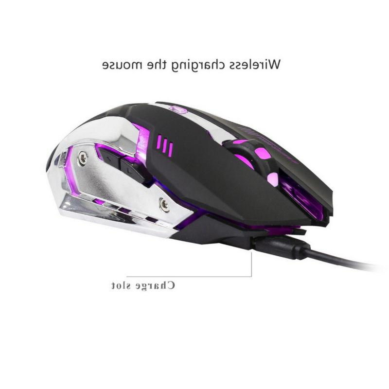 ZERODATE 2.4GHz Mouse Rechargeable Gaming Mouse 2400DPI Mice