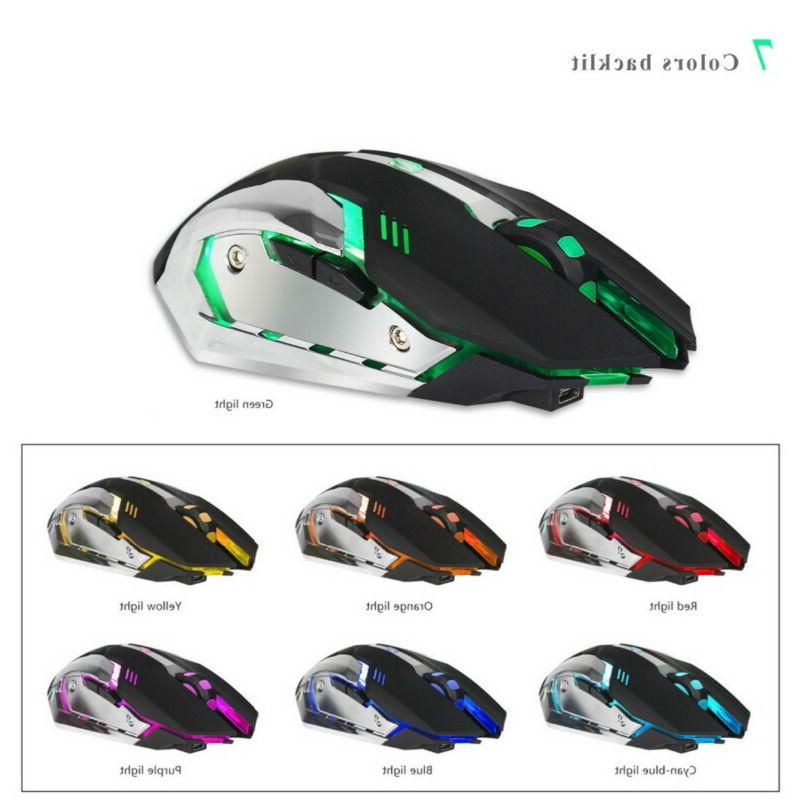 ZERODATE Mouse Rechargeable Gaming 2400DPI