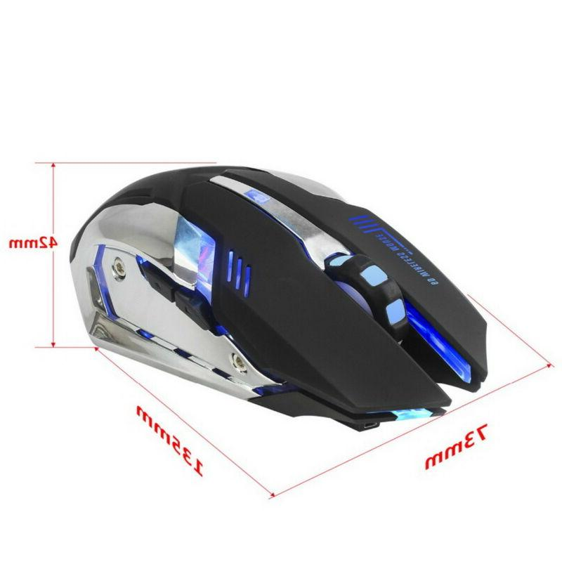 ZERODATE Rechargeable Gaming Optical Mouse 2400DPI