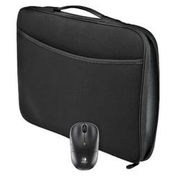 "BRAND NEW Logitech 16"" Laptop Sleeve with M185 Mouse BLACK/G"