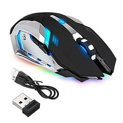 led laser wireless optical gaming mouse rechargeable