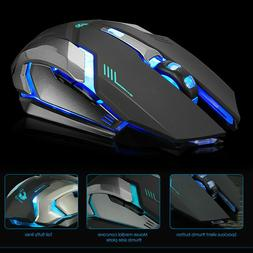 led rechargeable wireless backlit usb optical ergonomic