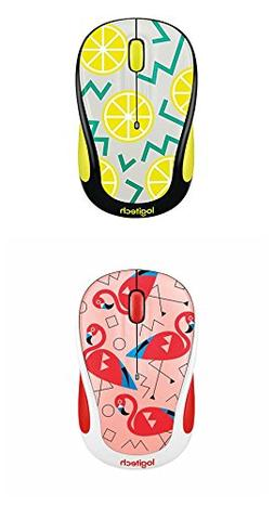 Logitech M325c Wireless Mouse Flamingo Pink & Lemon Yellow N