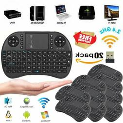LOT 1-20X Mini i8 Wireless keyboard 2.4Ghz Touchpad Mouse fo