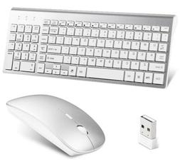 Lucloud Wireless Keyboard and Mouse Combo,Ultra Slim with Mu