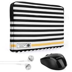 Vangoddy Luxe G Series Black White Stripe 15.6 Inch Padded Z