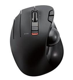 ELECOM M-XT3DRBK Wireless Trackball Mouse, 6-Button with Smo