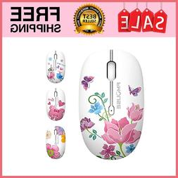 M101 Wireless Mouse Cute Silent Computer Mice with USB butte