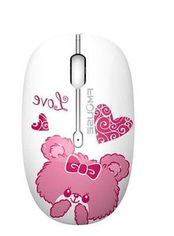 TENMOS M101 Wireless Mouse Cute Silent Mice with Nano USB Re