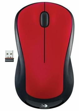 m310 red full size wireless mouse red