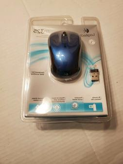 Logitech M325 Wireless Mouse - Blue for Windows, Mac or Linu