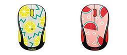 Logitech M325c Wireless Mouse Watermelon & Lemon Yellow New