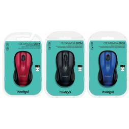 Logitech M510 Wireless Mouse - Blue / Black / Red