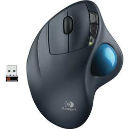 Logitech M570 Wireless Trackball Laser Mouse - Gray/Blue