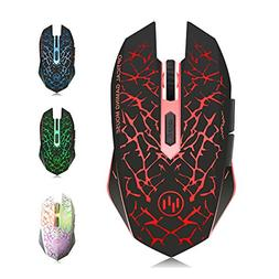 TENMOS M6 Wireless Rechargeable Gaming Mouse USB Optical LED