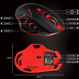 Redragon M690 4800DPI Wireless Gaming Mouse for Pro Gamers,
