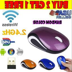 Mini 2.4GHz Wireless Gaming Mouse Mice & USB Receiver For PC