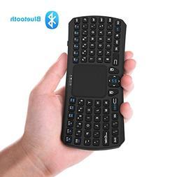 Mini Bluetooth Keyboard, Jelly Comb Rechargable Handheld Rem