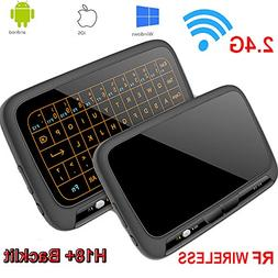 Yongf TV Box Mini Keyboard, H18+ Wireless Mouse 2.4G WiFi Mi