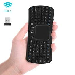 Mini Keyboard, Updated Wireless Mini Keyboard with Touchpad