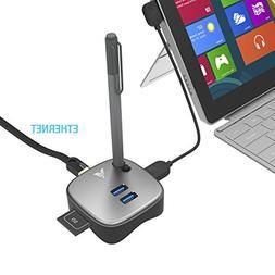MAKETECH Mini Multi-function Surface Pro 4/3 USB 3.0 Hub Doc