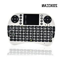 ZOXCCAN Mini 2.4GHz Wireless 3 in 1 Rechargeable Keyboard wi