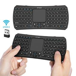 Mini Wireless Keyboard With Touchpad, Jelly Comb 2.4G Handhe