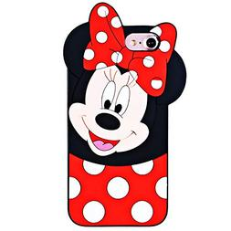 TopSZ Minnie Case for iPod Touch 6th,5th,Silicone 3D Cartoon