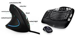 Logitech MK550 Wireless Wave Keyboard and Mouse Combo-Long B