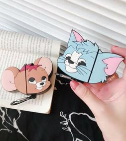 Mouse Cat Silicone Wireless Bluetooth Earphone Case Cover Fo