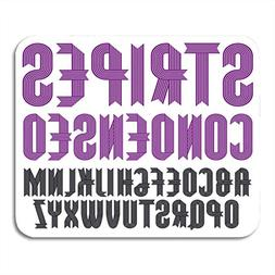 Mouse Pads ABC Cool Upper English Alphabet Letters Funky Con