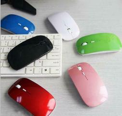 Mouse Ultra Thin USB Optical Wireless 2.4G Receiver Super Sl