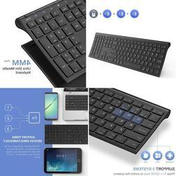 Multi-Device Wireless Bluetooth Keyboard, Jelly Comb Full Si