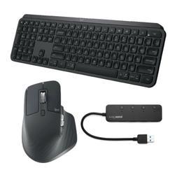 Logitech MX Keys Wireless Keyboard with MX Master 3 Wireless