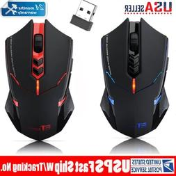 New 2.4G Wireless 7-Button LED Gaming Mouse Adjustable 2400D